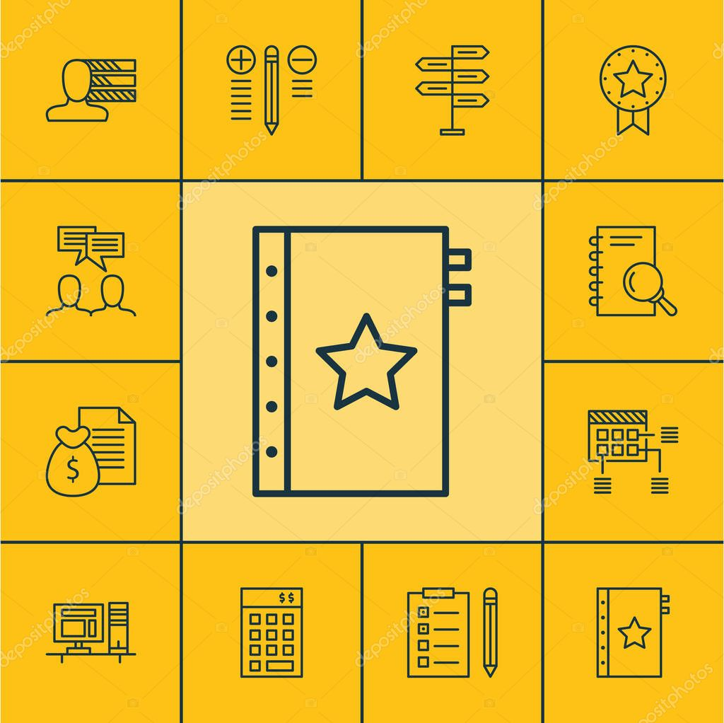 Set Of Project Management Icons On Decision Making, Warranty
