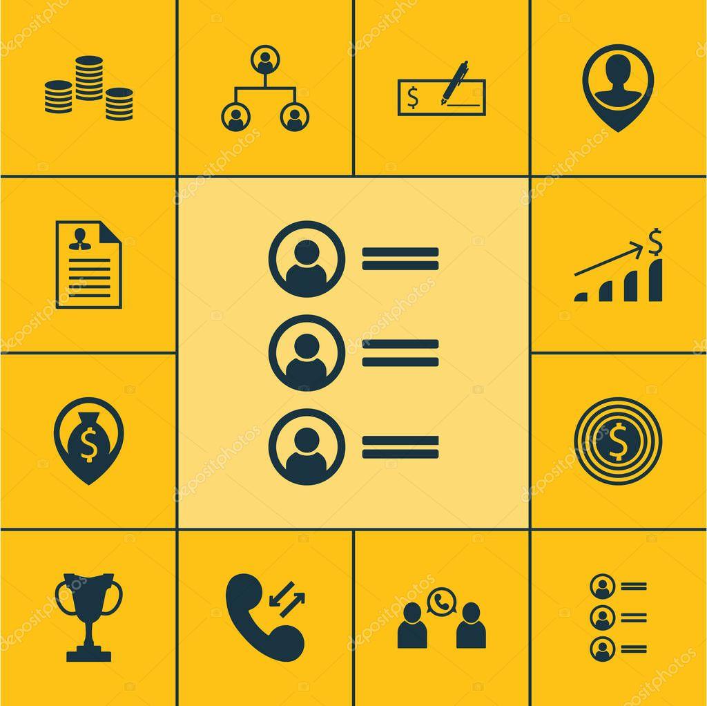 Conjunto de iconos de gestión de los solicitantes de empleo, pago en ...