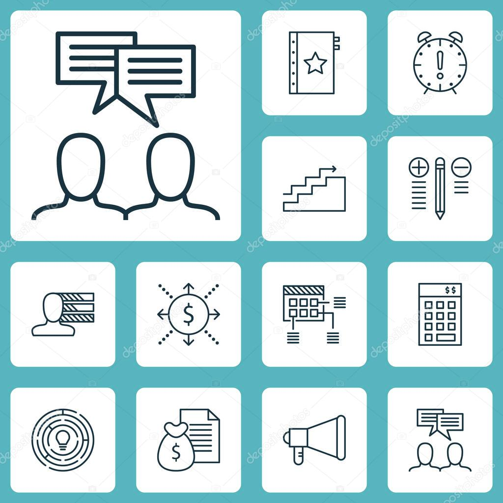 Set von Projekt Management Icons auf persönlicher Kompetenzen ...