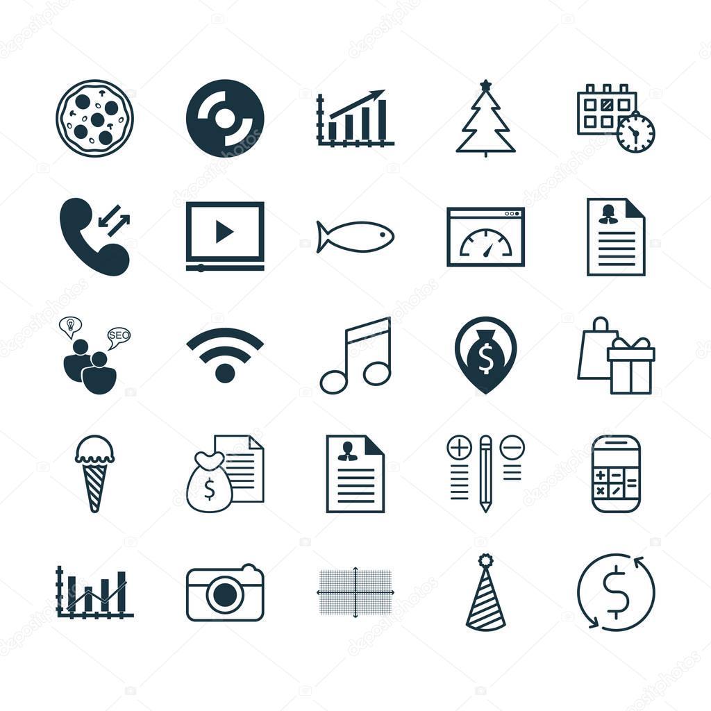 Iconos Para Su Curriculum Set De 25 Iconos Editables Universal
