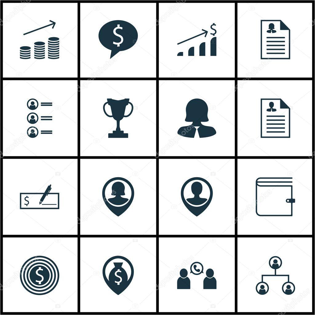 Reihe von Human Resources-Icons auf Turnier, weibliche Anwendung und ...