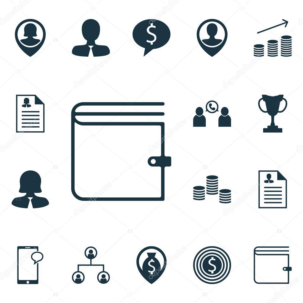 Set von Human Resources-Icons auf Mitarbeiter Lage, Turnier und ...