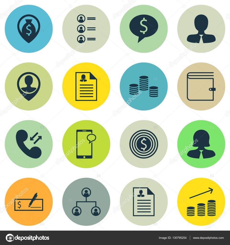Conjunto de iconos de Hr en Curriculum Vitae, negocio y temas de uso ...