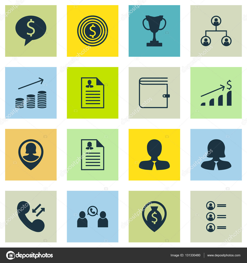 Set von Human Resources-Icons auf weibliche Anwendung, Pin ...