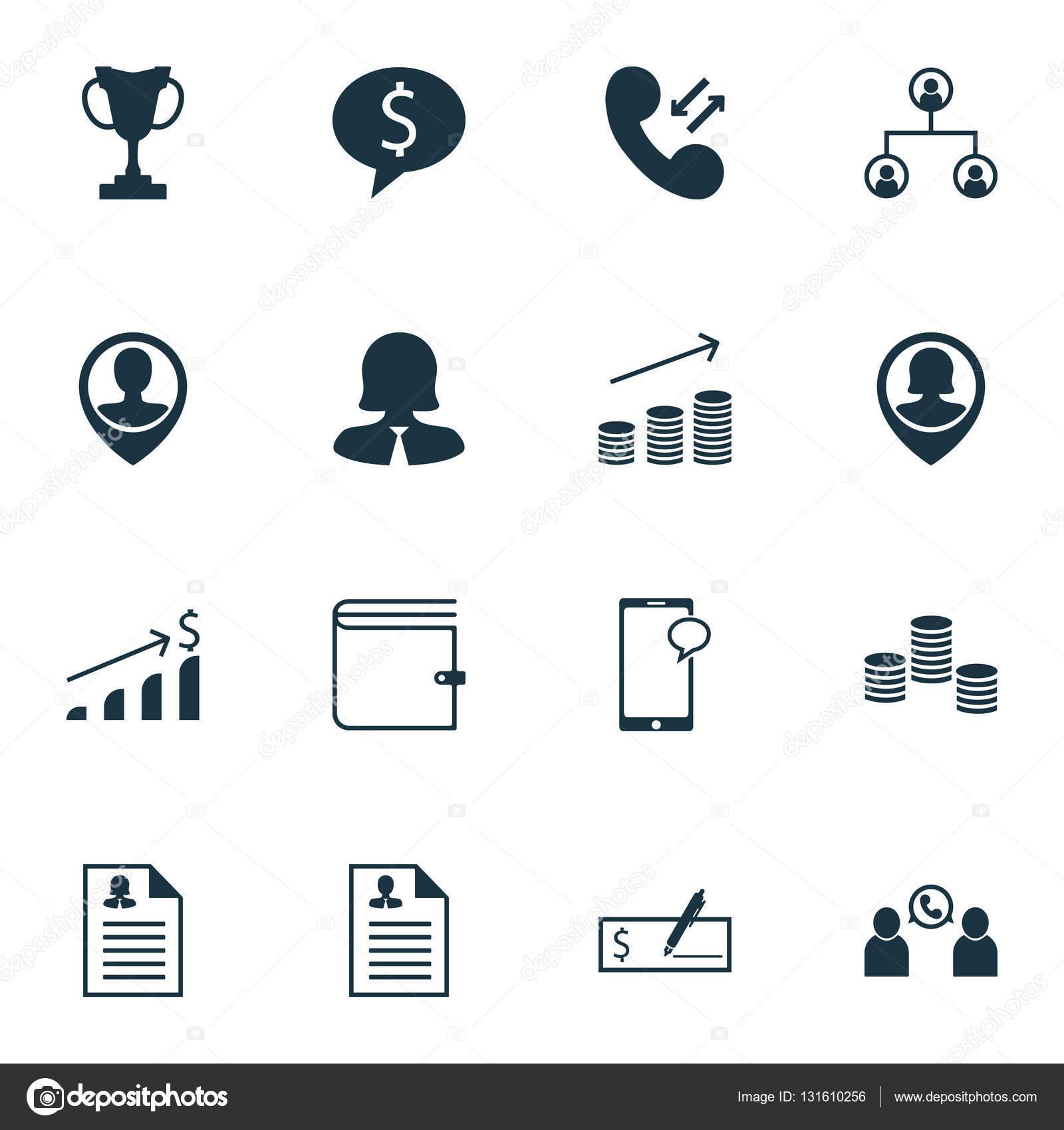 Conjunto de iconos de Hr en mensajería, aplicación femenina y temas ...