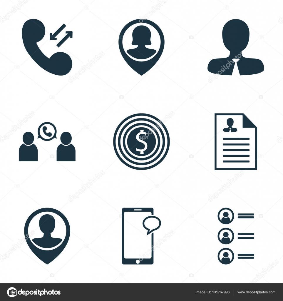 Set von Human Resources-Icons Mitarbeiter Lage, Lebenslauf und ...