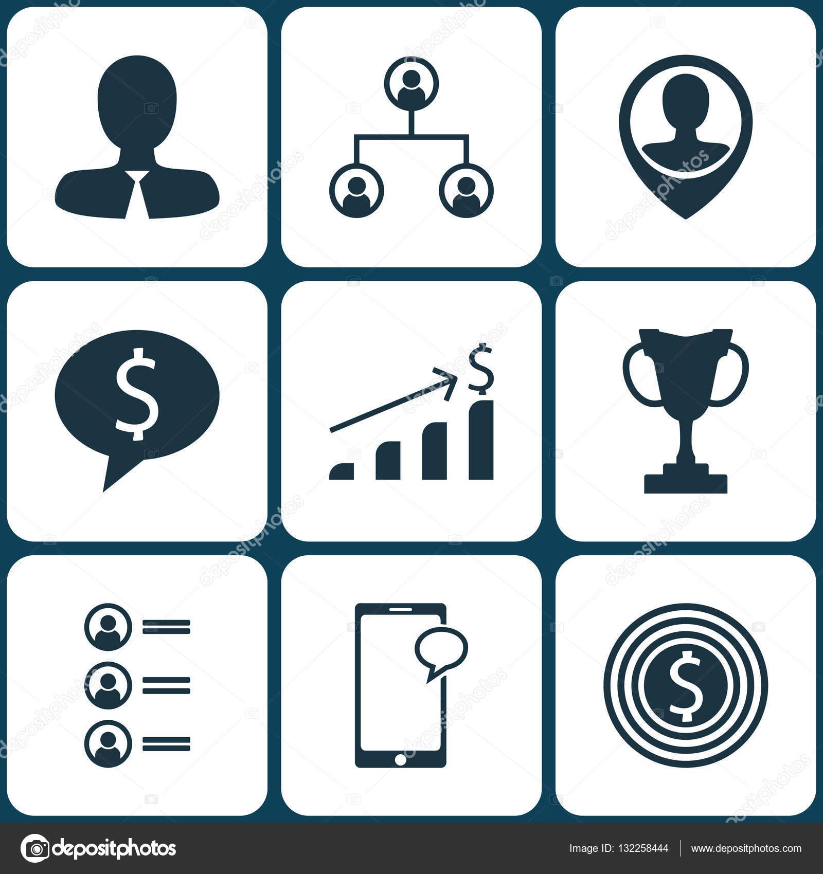 Reihe von Human Resources-Icons auf Bewerber, Geschäft und ...