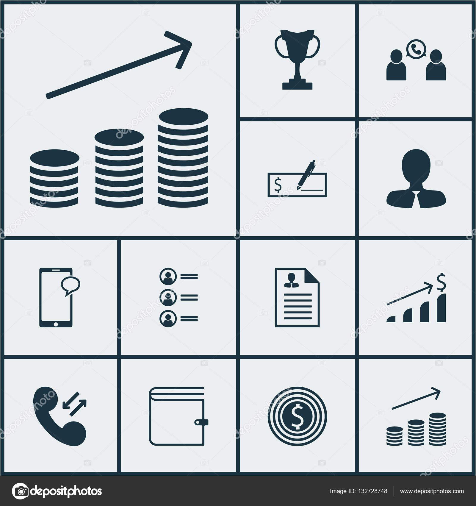 Conjunto de iconos de gestión Manager, pago en Banco y negocios ...