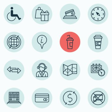 Set Of Traveling Icons On Money Trasnfer, Accessibility And Plastic Card Topics. Editable Vector Illustration. Includes Appointment, Paper, Crossroad And More Vector Icons.