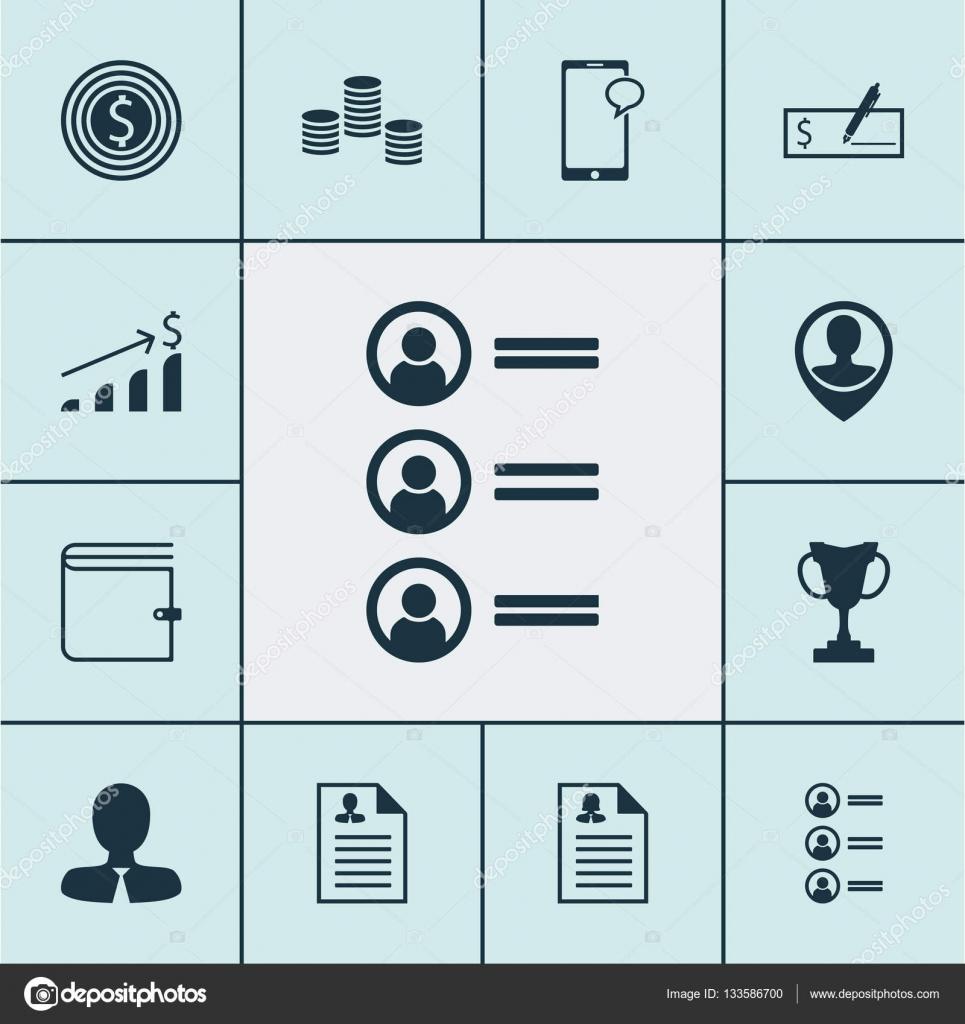 Conjunto de iconos de los recursos humanos en los solicitantes de ...