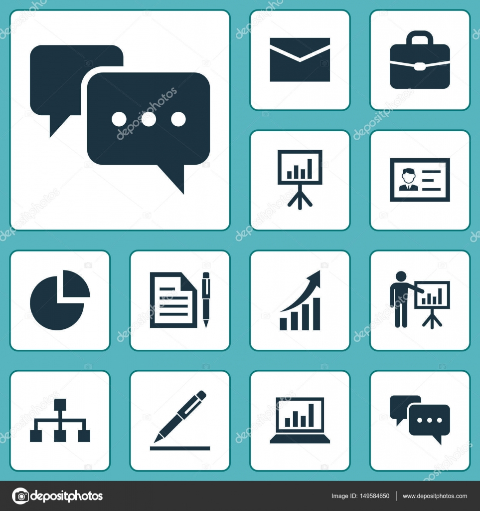Job Icons Set Collection Of Envelope Chatting Contract And Other