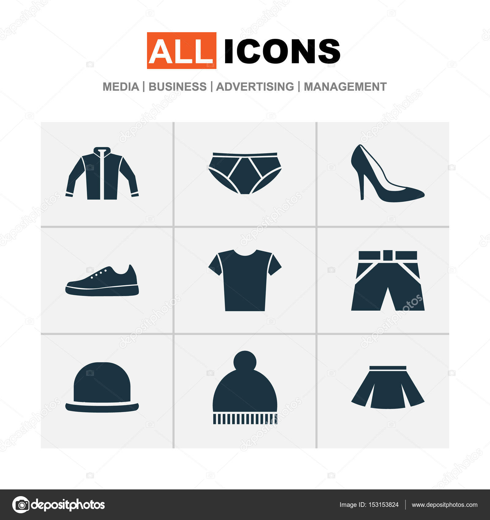 Dress icons set collection of cardigan heel footwear stylish collection of cardigan heel footwear stylish apparel and other elements also includes symbols such as casual panama footwear buycottarizona Gallery