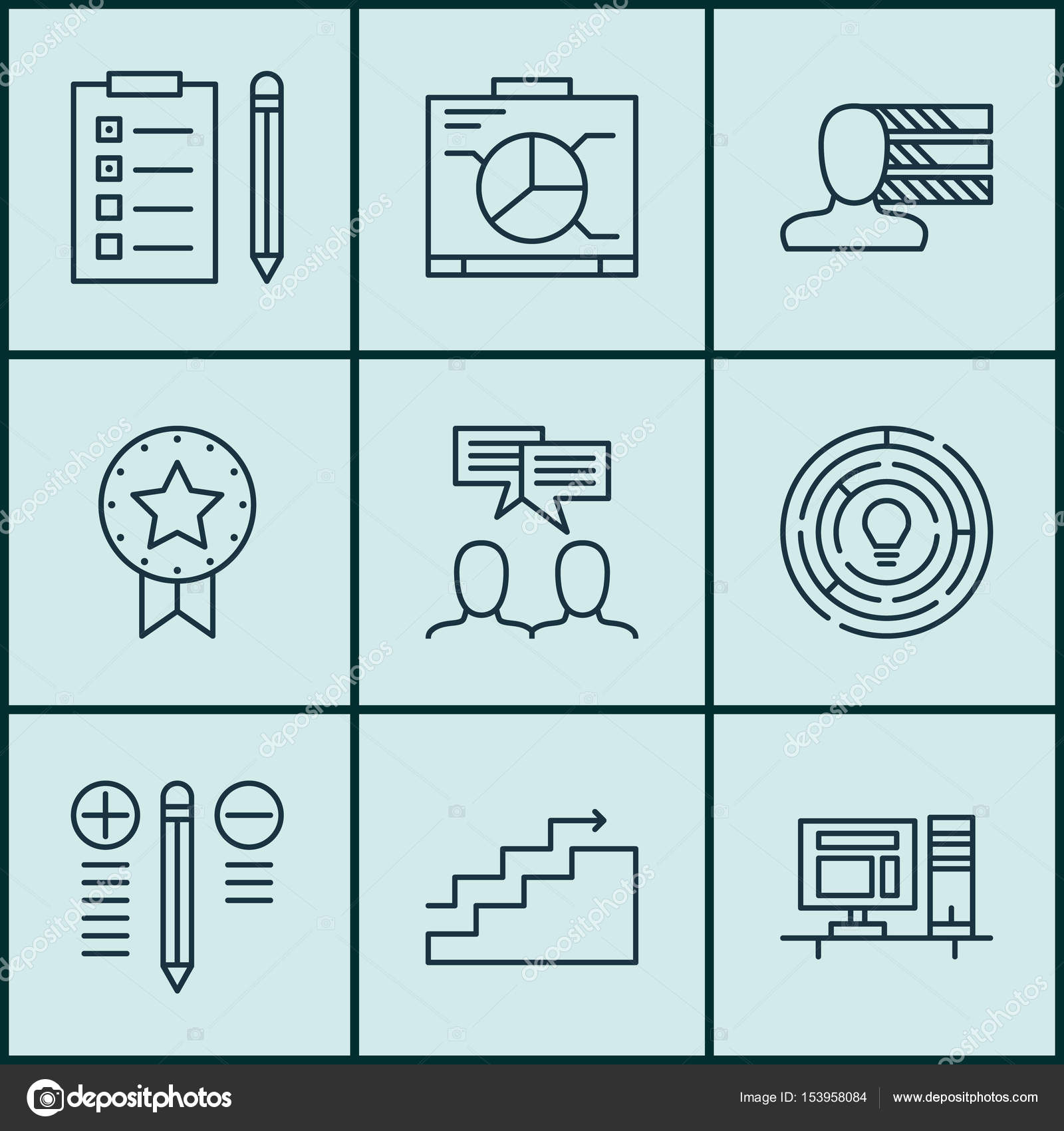 Set Of 9 Project Management Icons Includes Growth Innovation