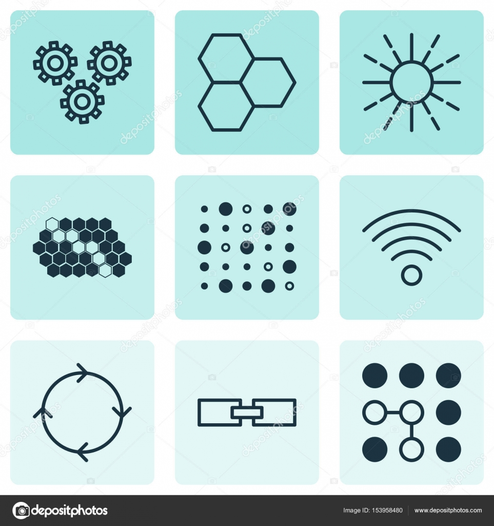 Set Of 9 Robotics Icons Includes Variable Architecture Information