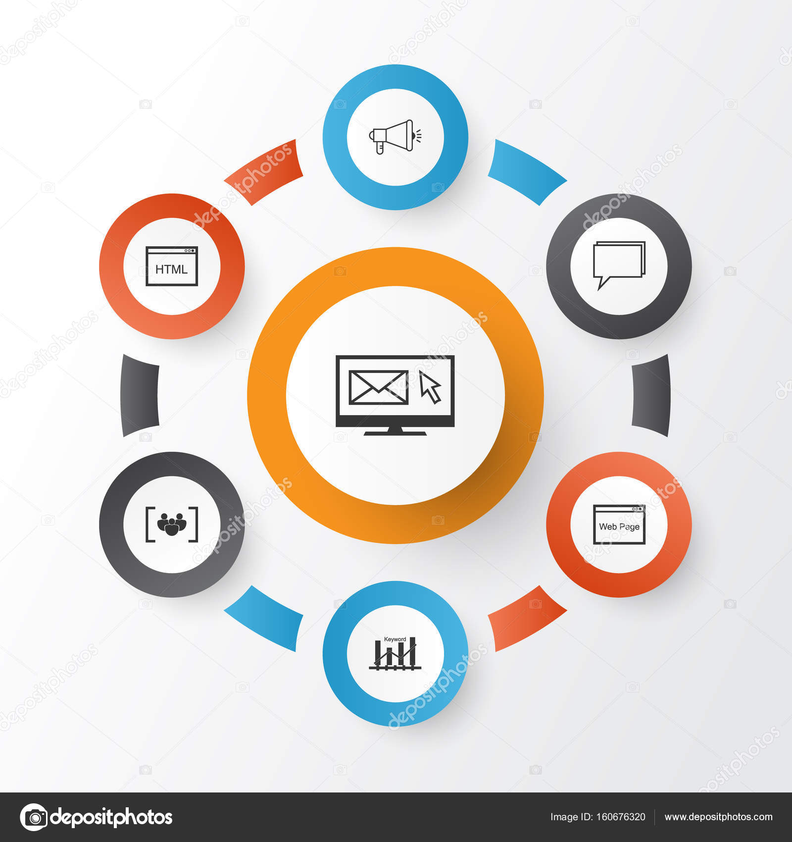 Seo Icons Set Collection Of Newsletter Questionnaire Conference