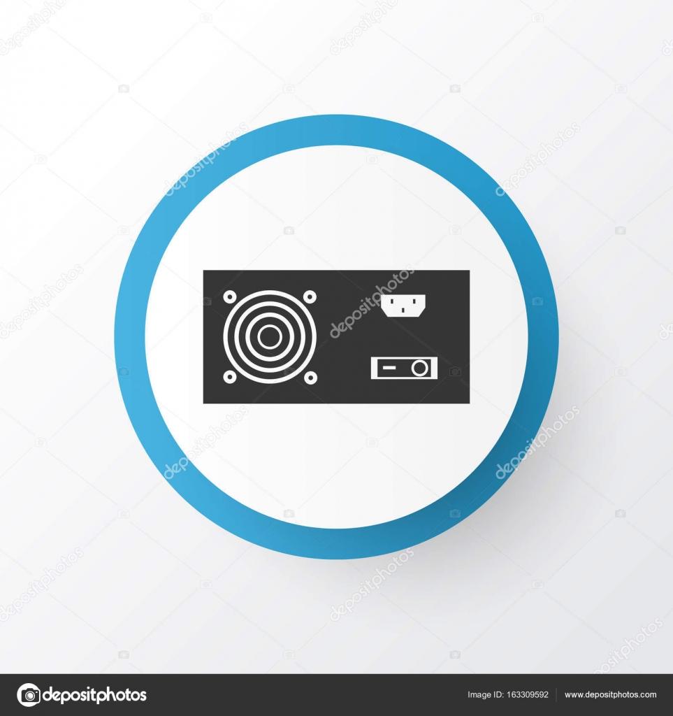 Power Supply Icon Symbol Premium Quality Isolated Power Generator