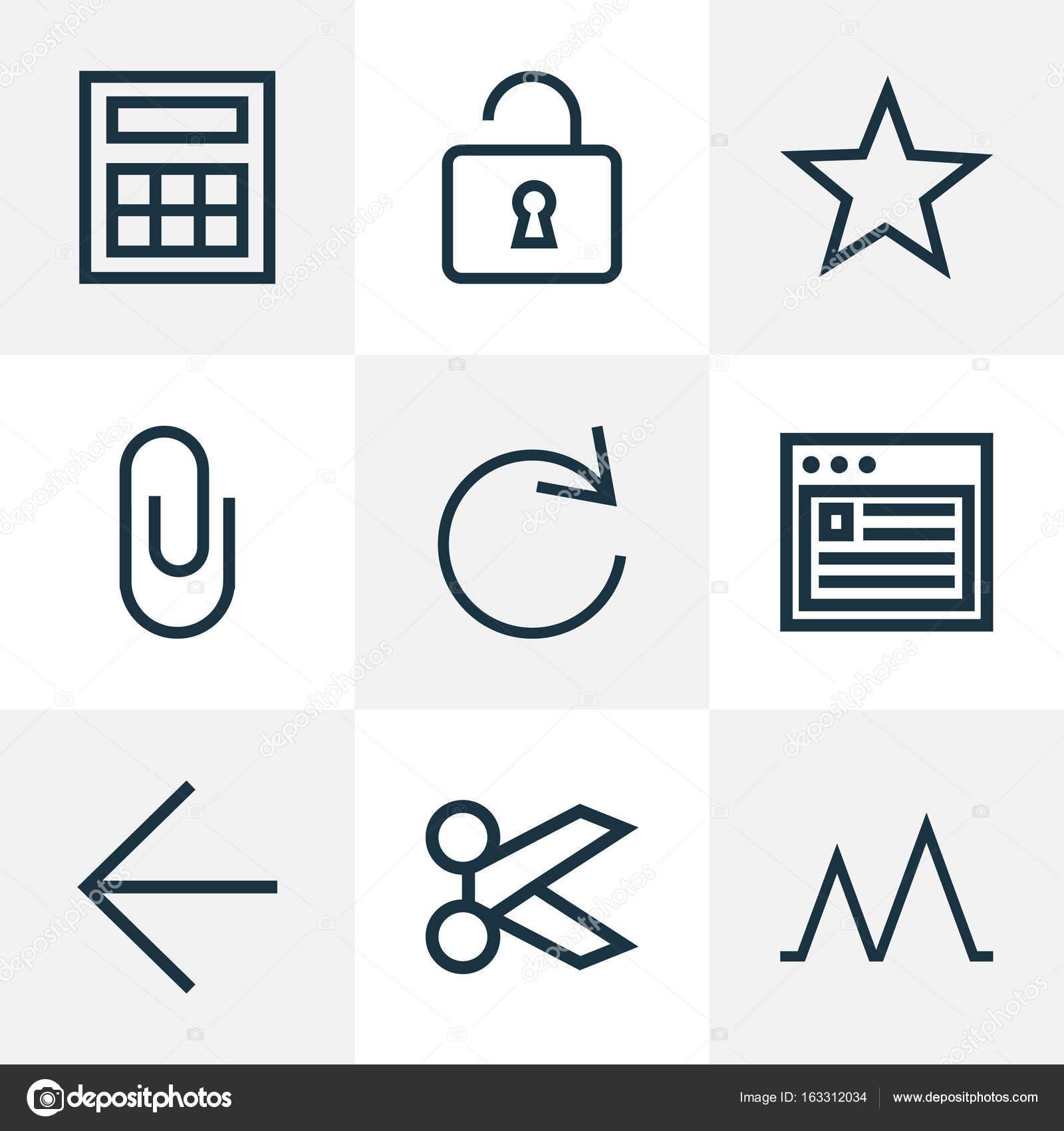Gebruiker overzicht Icons Set  Collectie Reload, Calculator