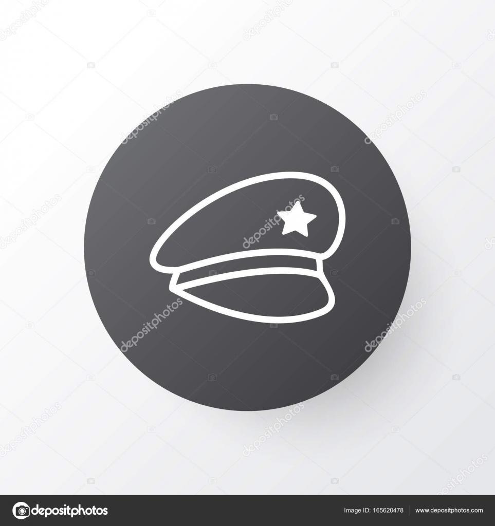 Police Cap Icon Symbol Premium Quality Isolated Cop Hat Element In