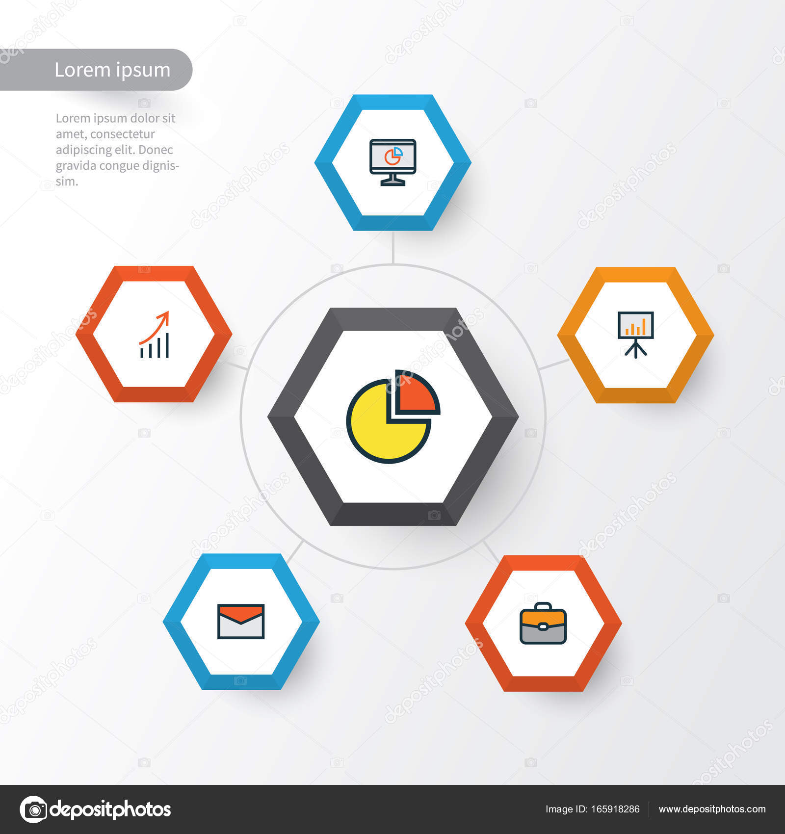Trade colorful outline icons set collection of financial profit collection of financial profit pie chart billboard presentation geenschuldenfo Images