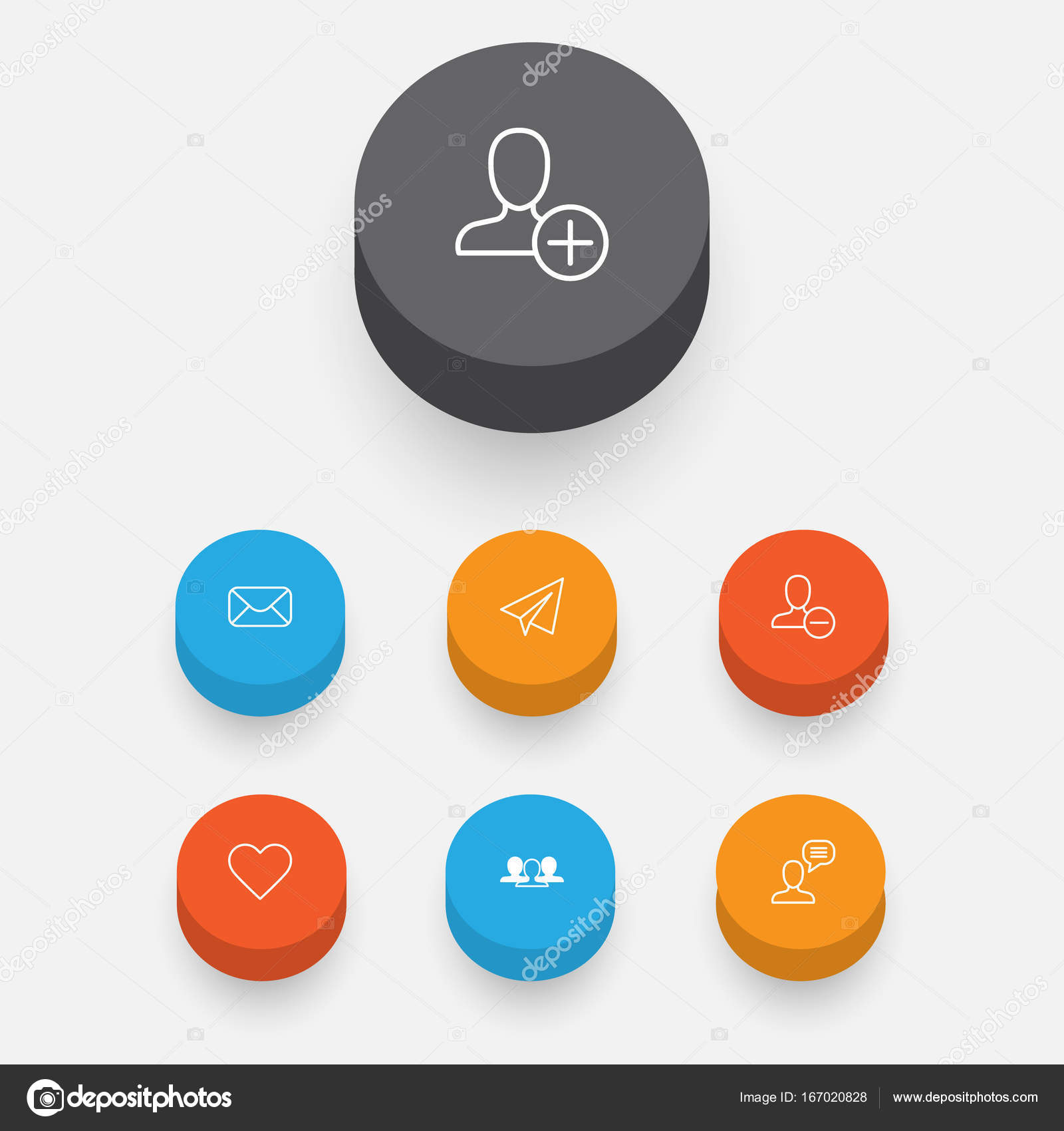 Communication Icons Set Collection Of Follow Connect Startup And