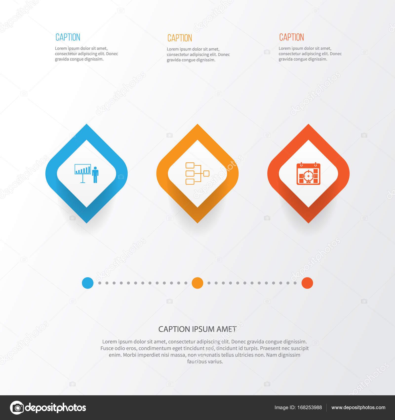 Verwaltung Icons Set. Auflistung der Systemstruktur ...