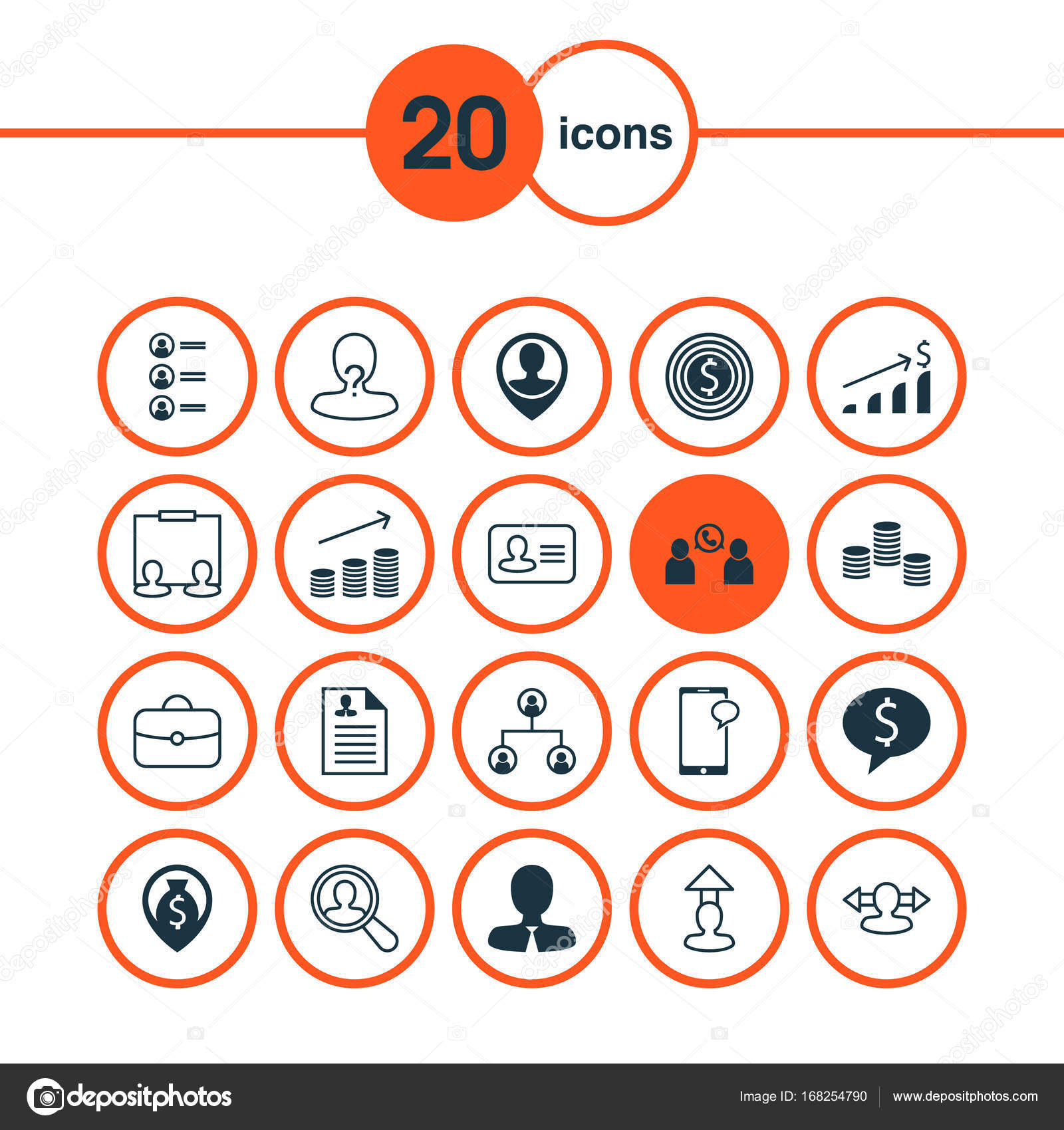 Human Icons Set Collection Of Increase Manager Destination And