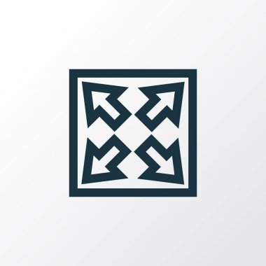Widen Outline Symbol. Premium Quality Isolated Enlarge Element In Trendy Style.