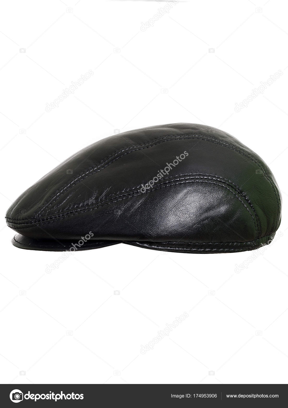 cbef4b1f2b1fd Black beret flat-crowned hat isolated over the white background — Photo by  ...