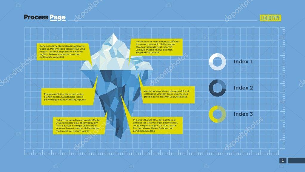 iceberg infographic diagram slide template stock vector surfsup