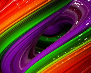 Illustration Rainbow of colors abstract colorful on black background.