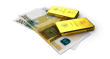 Stock Illustration of Money Gold, on white background