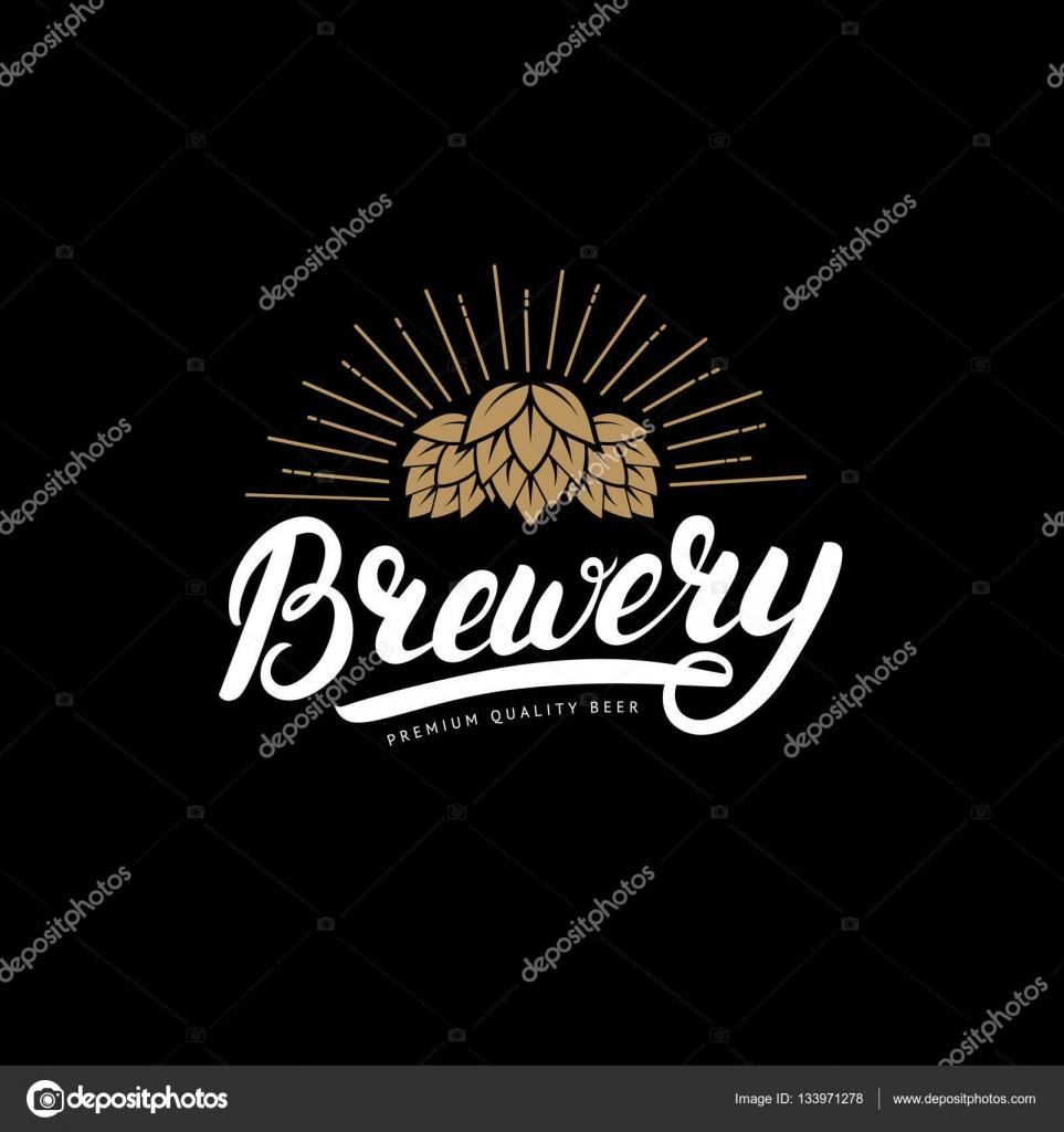 Brauerei handgeschriebenen Schriftzug, Logo, Aufkleber, Abzeichen ...