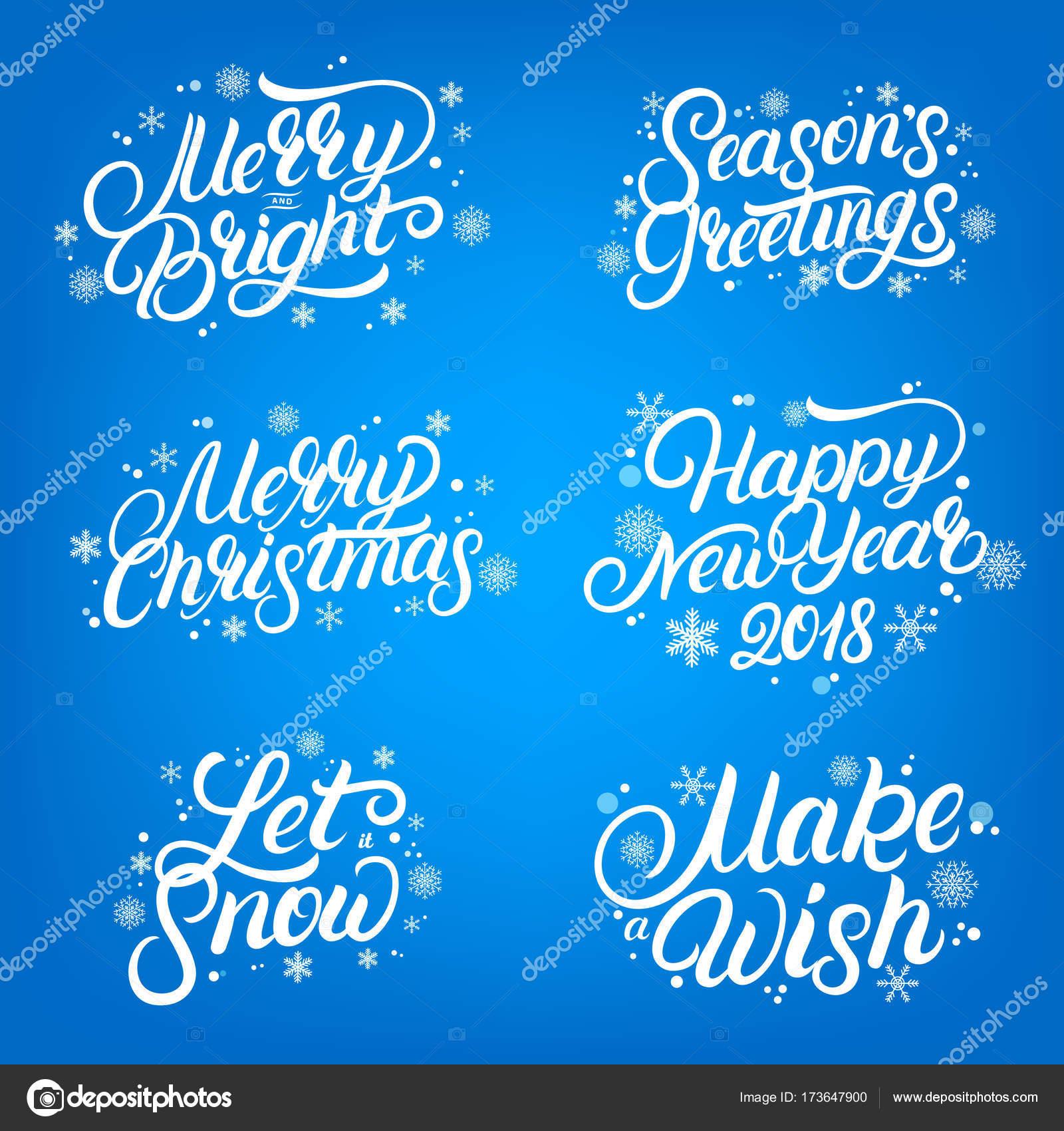 Juego De Navidad Y Ano Nuevo 2018 Cotizaciones Letras Escritas Con