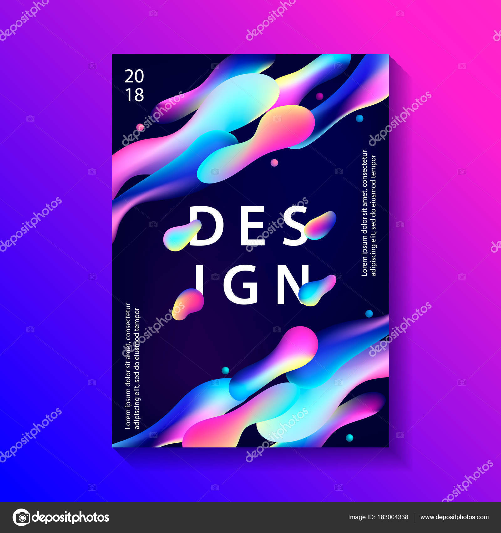 Kreatives Design Poster mit plastischen Formen — Stockvektor ...