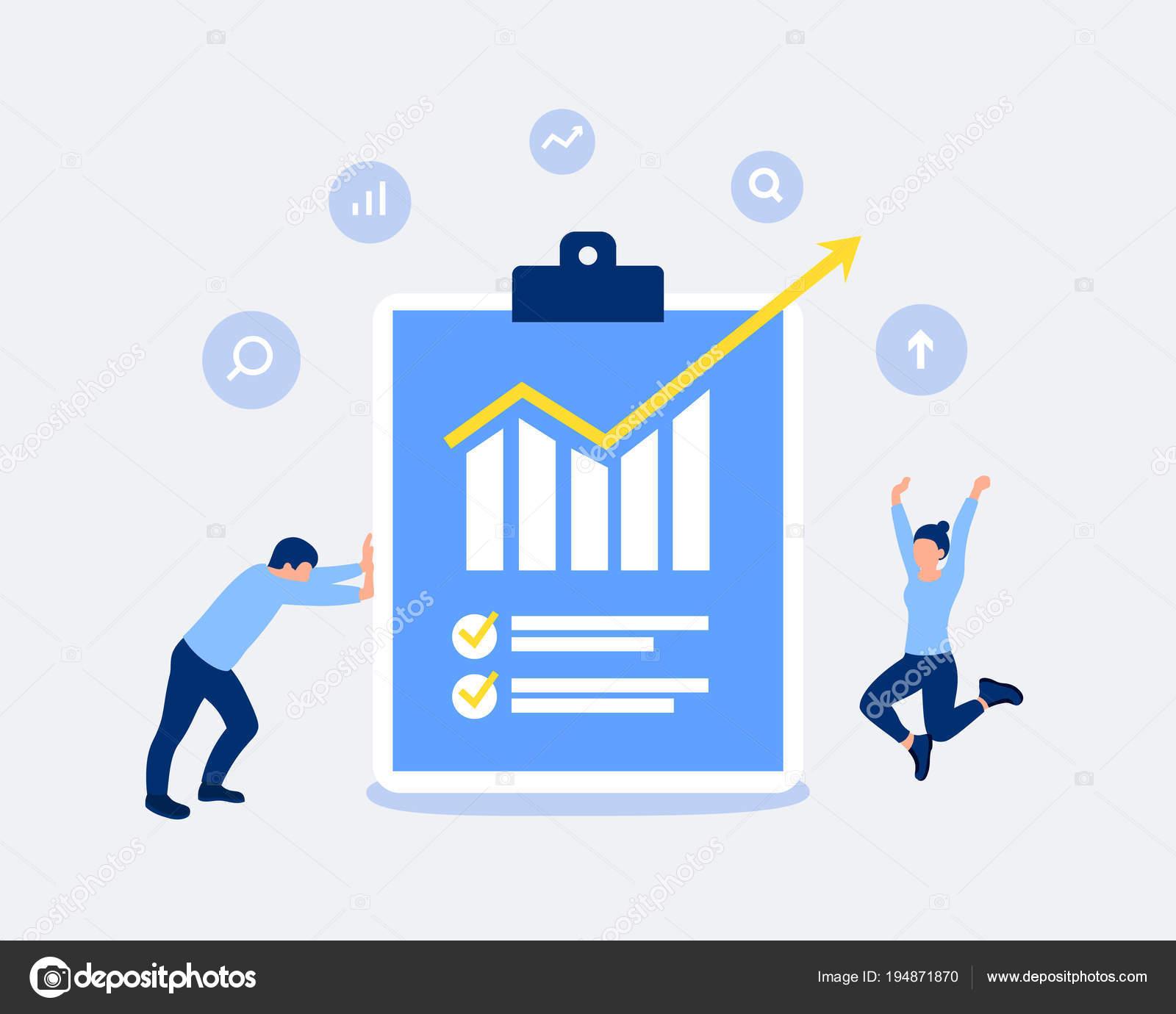 Data analysis and statistics design concept  — Stock Vector