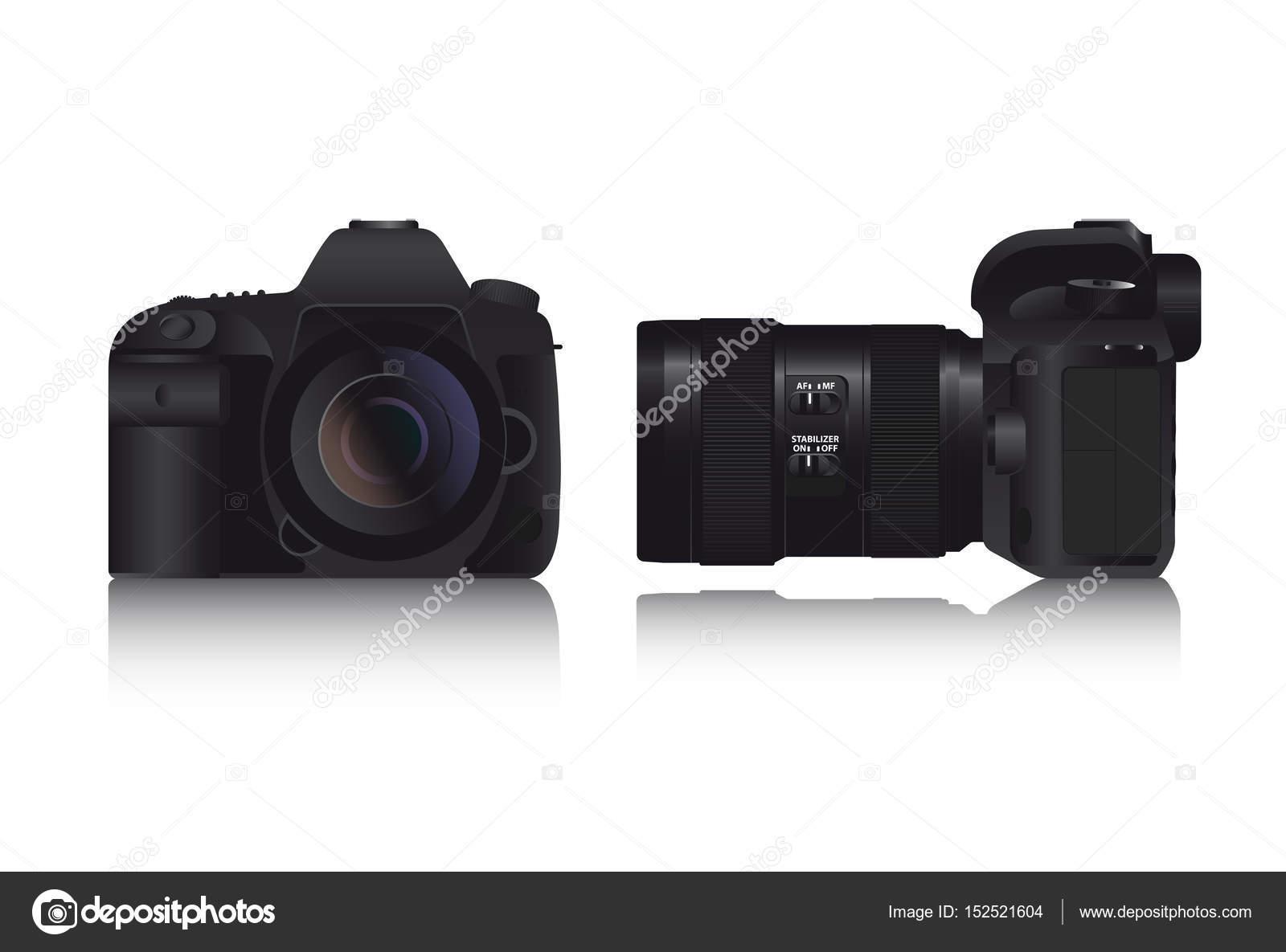 Professionelle Foto-Kamera Dslr — Stockvektor © Scharfsinn #152521604