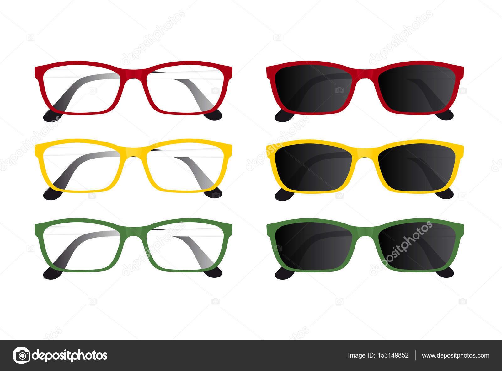 Juego De Vasos Rojos Amarillos Y Verdes Archivo Imagenes