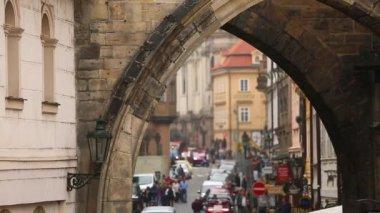 staré město z obloukem Karlova mostu