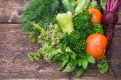 Close-up di verdure fresche