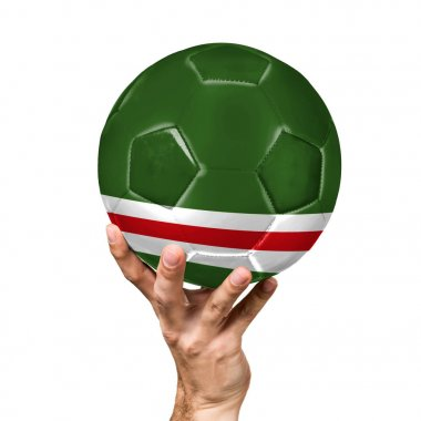 soccer ball with the image of the flag of Chechen Republic of Ichkeria