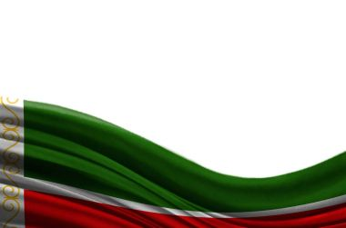 Grunge colorful flag Chechen Republic,isolated on white background