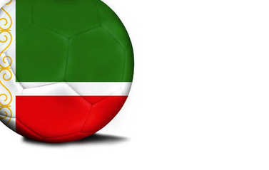Flag of Chechen Republic, the ball is isolated on a white background
