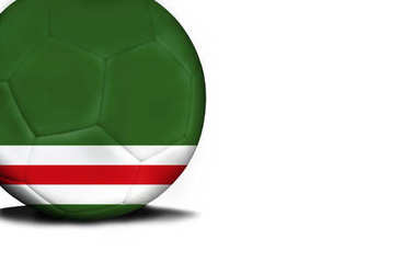 Flag of Chechen Republic of Ichkeria, the ball is isolated on a white background