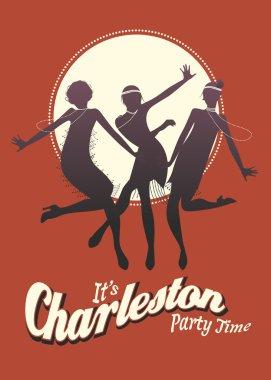 Funny three girls dancing Charleston