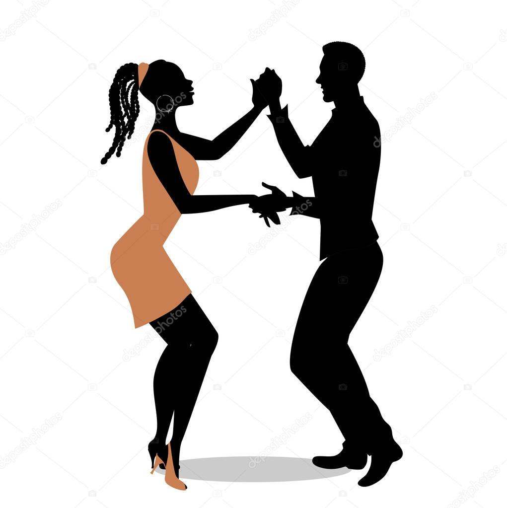 Silhouette of Young Couple Drinking Stock Footage Video