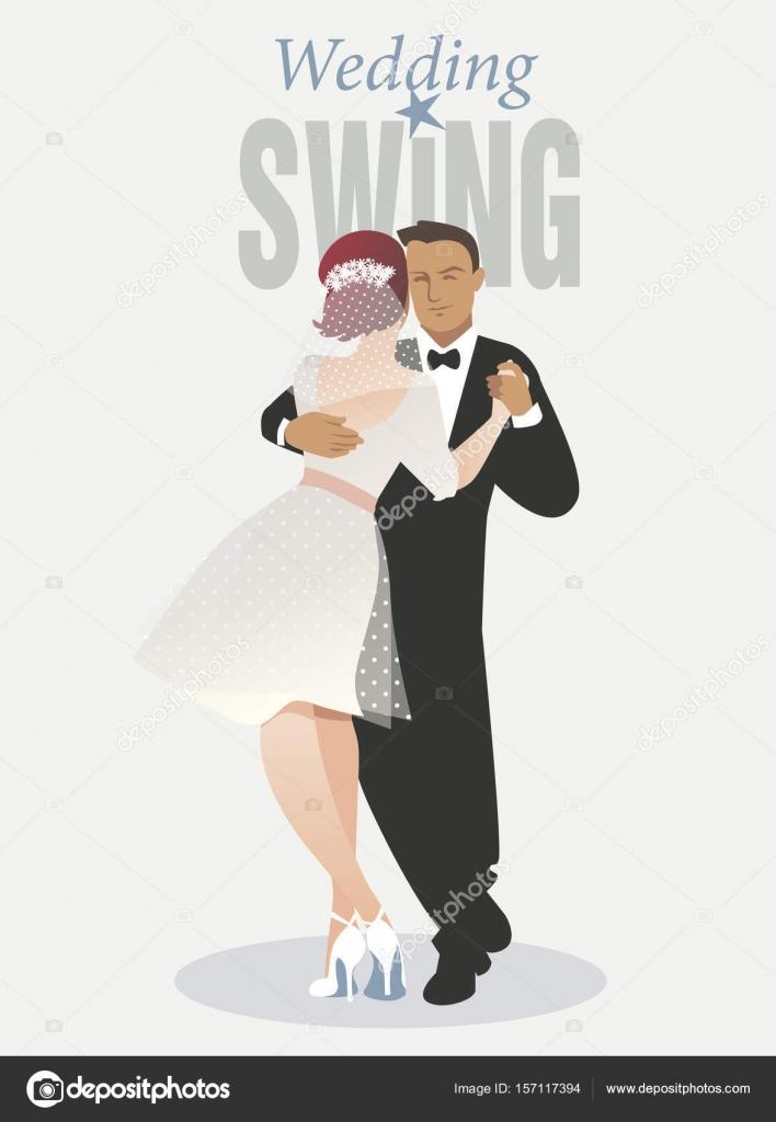 Wedding Dance Bride And Groom Dancing Balboa Style Swing Vector By LaInspiratriz