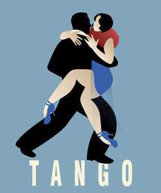 Couple dancing argentinian tango. Vector Illustration