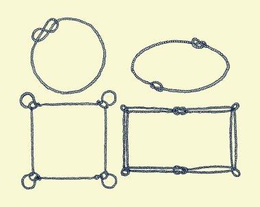 Hand drawn rope frames