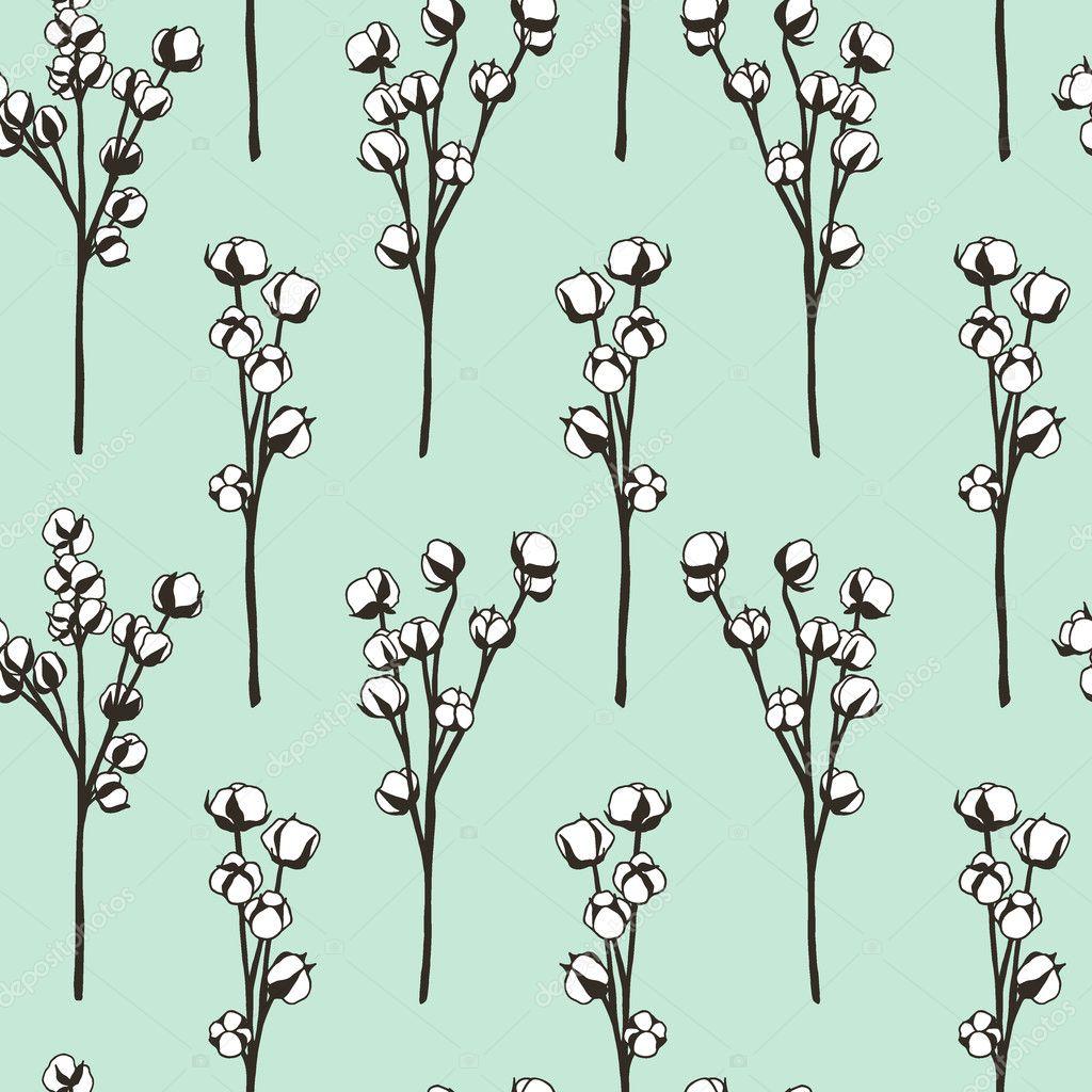 Dessin De Fleurs De Coton Image Vectorielle Ezhevica C 127438660