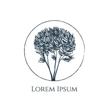Hand drawn tree emblem